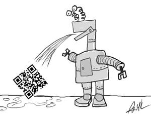 qr code robot